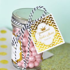 """Check out the deal on Personalized Metallic Foil 2"""" Square Favor Labels & Tags - Baby at Wedding Favorites 