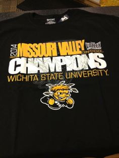 MVC Champs! Proud to be a Shocker! #BringGamedayToWichita Missouri Valley, Wichita State, State University, Champs, Conference, Fan, T Shirt, Women, Supreme T Shirt