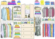 His and hers closet layout - would work perfectly with our closet size