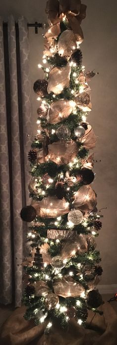 if you like pencil christmas tree you might love these ideas - Skinny Christmas Tree Decorating Ideas
