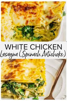 Chicken Artichoke Lasagna, White Chicken Lasagna, White Lasagna, Italian Lasagna, Shredded Chicken Recipes, Yummy Chicken Recipes, Yum Yum Chicken, Pasta Recipes, Budget Recipes