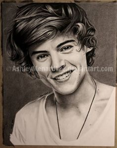Our Art Corner - Harry Styles Charcoal Drawing (by AshleyMenard122)