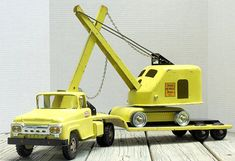 Vintage Tonka 1960 Truck with 1958 Steam Shovel and Lowboy