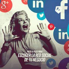 PASO A PASO PARA ESCOGER LA RED SOCIAL DE TU NEGOCIO Lo mejor del #socialmedia aquí > http://socialmedia-rebeldesonline.com/que-red-social-elegir/