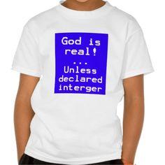 Computer geek joke tee shirts