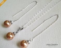 Rose Gold Wedding Jewelry, Bridal Jewelry Sets, Teardrop Pearl Earrings, Rose Gold Pearl, Silver Pearls, Pearl Pendant, Pearl Jewelry, Party Gifts, Weddings
