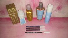 $250 set 4 piesas toque de amor (colonia+perfume+2 desodorantes) + 4 delineadores lapiz color azul, negro, violeta, verde