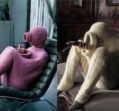 Staying warm for winter. It looks comfortable though.