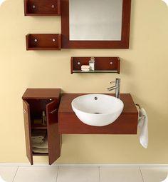 "25.5"" Fresca Stile (FVN3520) Modern Bathroom Vanity w/ Mirror ..."