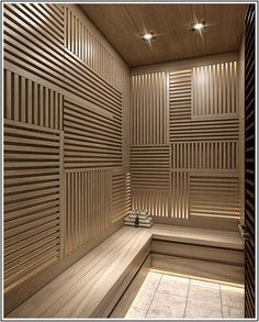 For more design inspirations check our website Home Spa Room, Spa Rooms, Saunas, Mini Sauna, Sauna Lights, Succulent Garden Diy Indoor, Sauna Design, Spa Interior, Sauna Room