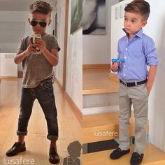 Boys fashion/kids fashion/boys hairstyles.