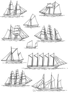 TOUCH this image: Sailing ship rig types by Shipwrecks
