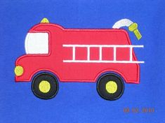 Items similar to Firetruck Applique Machine Embroidery Design on Etsy Hand Embroidery Stitches, Machine Embroidery Designs, Embroidery Patterns, Satin Stitch, Applique Designs, Fire Trucks, My Design, Etsy, Sewing
