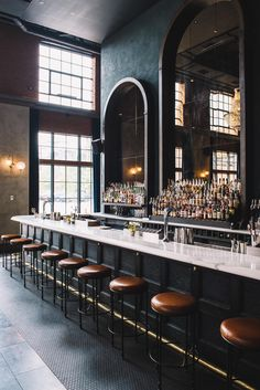 Hottest New Restaurant Openings Across the Globe - Death & Co. Wine Bar Design, Coffee Shop Design, Cafe Design, Back Bar Design, Design Design, Pub Interior, Restaurant Interior Design, Bar Interior Design, Bar Deco