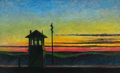 Railway Sunset: Edward Hopper