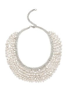 Seapearl Woven Collar Bridal Necklace http://www.dessy.com/accessories/seapearl-woven-collar-bridal-necklace/
