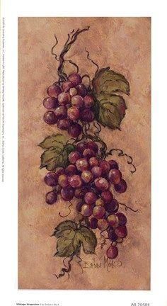 Vintage Grapevine l by Barbara Mock Art Print