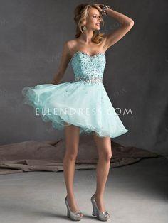 A-line Sweetheart Sleeveless Short/Mini Chiffon Homecoming Dresses/Short Prom Dresses #FD372 - Homecoming Dresses