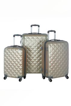 Olympia Yellowstone 3-Piece Hardcase Luggage Set $99.00
