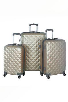Olympia Yellowstone 3-Piece Hardcase Luggage Set $99.00