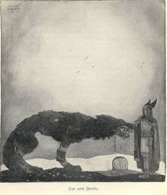 Tyr and Fenrir - By John Bauer, 1911