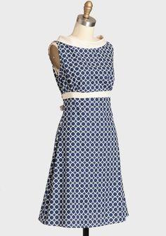 Fifi Navy Orbit Dress By Heartbreaker   Modern Vintage Sale