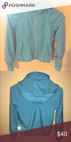 size 6 ivivva jacket light blue ivivva wind breaker, used only once or twice Ivivva Jackets & Coats