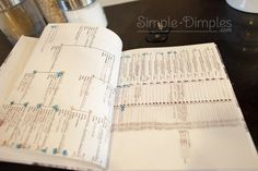 Dimplicity - Heritage album with genealogy chart. Each person is numbered for easy reference in the photo caption.