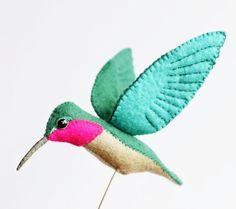 Felted Birds by Australian Artist Jill Ffrench #crafts #felt