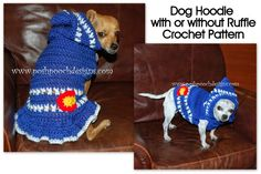 Posh Pooch Designs Dog Clothes: Colorado Strong Dog Hoodie - Small Dog Hoody Crochet pattern