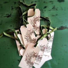 Handmade holiday tags tutorial on my blog today. #handmadeholidays #diy