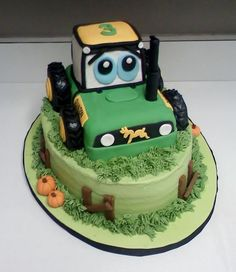 Looking for cake decorating project inspiration? Check out Tractor Cake by… Cake And Cupcake Stand, Cupcake Cakes, Cupcakes, Farm Birthday Cakes, Buttercream Fondant, Cake Decorating With Fondant, Farm Cake, Just Cakes, Cake Images