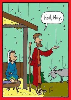 Funny Hail Mary Cartoon Joke