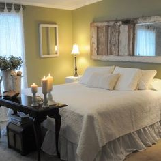 Likin the door on the wall! Shabby Chic Bedroom Design, Pictures, Remodel, Decor and Ideas