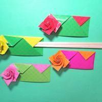 Origami emelkedett pálcika táska 3 összecsukható videó