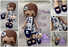 Handmade Doll & Binky Collectable Set  Felt by HarveyshouseCrafts