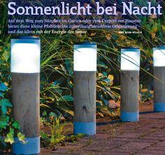 Plexiglas Solar Leuchten für den Garten
