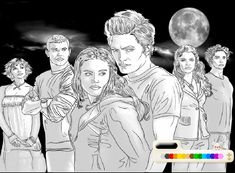 twilight coloring pages for those skilled with a crayonmarkerpaint - Twilight Coloring Pages Print