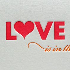 Love is in the Air: Love!