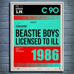 Fab.com | Beastie Boys Licensed to Ill '86