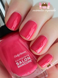 Sally Hansen in Tickle me pink Swatched - $5