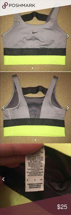 Awesome Nike sports bra Rare, neon green & grey sports bra! Nike Intimates & Sleepwear Bras