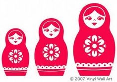 Matryoshka Madness: Russian Nesting Dolls In Every Form Little Corner, Matryoshka Doll, Vinyl Wall Decals, Wall Stickers, Custom Items, Decoration, Etsy Shop, Creative, Artwork