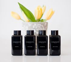 Exquisitely luxurious hotel toiletries by Charlotte Rhys. Eco friendly, cruelty free, biodegradable.