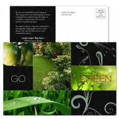Garden & Landscape Postcard Design