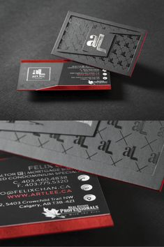 This (triple layered card) has Silver foil, Spot UV Gloss, A custom Die cut, and colored edges. We bring the experience to life. When you hand out this card, you can have confidence that you are putting your best foot forward. Die Cut Business Cards, Makeup Business Cards, Metal Business Cards, Luxury Business Cards, Black Business Card, Elegant Business Cards, Professional Business Cards, Business Card Design Inspiration, Spot Uv