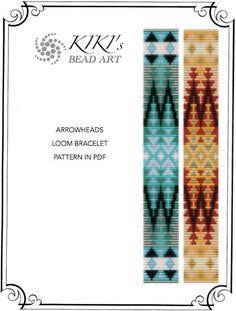 Bead loom pattern - Arrowheads ethnic inspired LOOM bracelet pattern in PDF - instant download