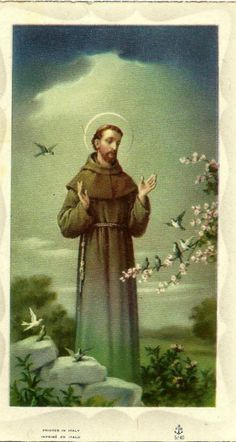 A Prayer of Saint Francis of Assisi, printed in Italy