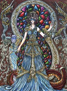 Art Nouveau Tarot Lover's | Tarot Cards - The Justice - by PhallseAnghell