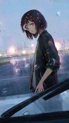 Dark Anime Girl, Manga Anime Girl, Cool Anime Girl, Kawaii Anime Girl, Anime Chibi, Wallpaper Animes, Anime Wallpaper Live, Anime Scenery Wallpaper, Cartoon Wallpaper